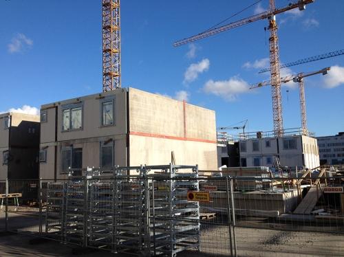 building in concrete Kvillebacken