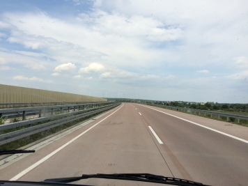 Empty highway in shrinking Germany
