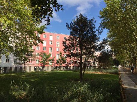 renovated housing complex Cité les Courtillières-Le Serpentin