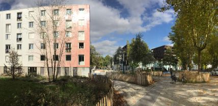 Renovated park and housing complex Cité les Courtillières-Le Serpentin