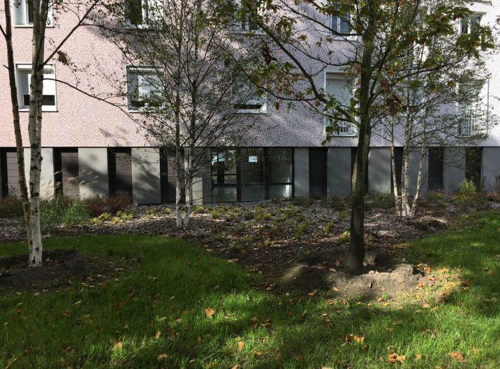 Renovated park and housing complex Cité les Courtillières-Le Serpentin