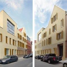 Die Schottenhöfe, Osterwold°Schmidt Architekten, Ertfurt Germany, 2012 © Steffen Groß [ Image from: https://www.german-architects.com/de/osterwoldschmidt-weimar/project/die-schottenhofe?nonav=1 ]