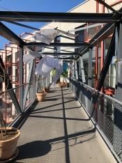 Zwicky-gemeenschappelijke buitenruimte op de brug